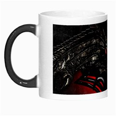 Black Dragon Grunge Morph Mugs