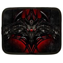 Black Dragon Grunge Netbook Case (xxl)