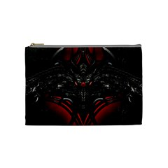 Black Dragon Grunge Cosmetic Bag (medium)