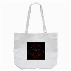 Black Dragon Grunge Tote Bag (white)