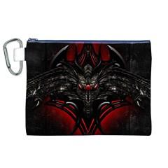 Black Dragon Grunge Canvas Cosmetic Bag (xl)