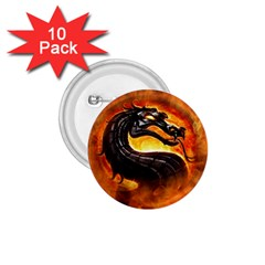 Dragon And Fire 1 75  Buttons (10 Pack)