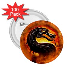 Dragon And Fire 2 25  Buttons (100 Pack)