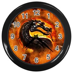 Dragon And Fire Wall Clocks (black)