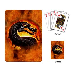 Dragon And Fire Playing Card