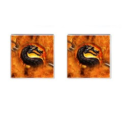 Dragon And Fire Cufflinks (square)