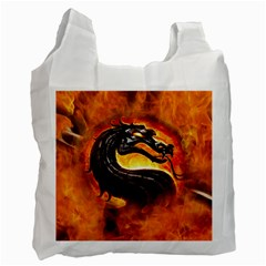 Dragon And Fire Recycle Bag (two Side)
