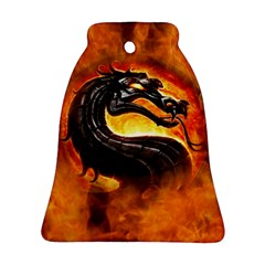 Dragon And Fire Bell Ornament (two Sides)