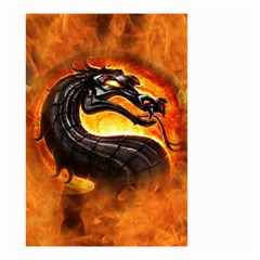 Dragon And Fire Small Garden Flag (two Sides)