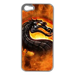 Dragon And Fire Apple Iphone 5 Case (silver)