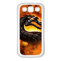 Dragon And Fire Samsung Galaxy S3 Back Case (white)