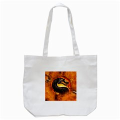 Dragon And Fire Tote Bag (white)