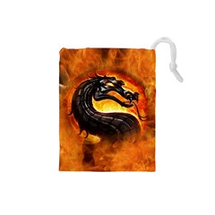 Dragon And Fire Drawstring Pouches (small)