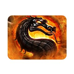Dragon And Fire Double Sided Flano Blanket (mini)