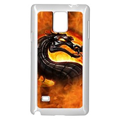 Dragon And Fire Samsung Galaxy Note 4 Case (white)