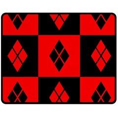 Harley Quinn Logo Pattern Fleece Blanket (medium)