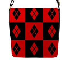 Harley Quinn Logo Pattern Flap Messenger Bag (l)