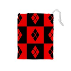 Harley Quinn Logo Pattern Drawstring Pouches (medium)
