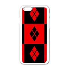 Harley Quinn Logo Pattern Apple Iphone 6/6s White Enamel Case