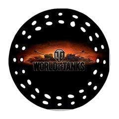 World Of Tanks Round Filigree Ornament (two Sides)