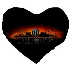 World Of Tanks Large 19  Premium Flano Heart Shape Cushions