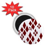 Harley Quinn Logo 1 75  Magnets (10 Pack)