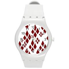 Harley Quinn Logo Round Plastic Sport Watch (m)