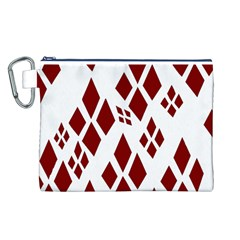 Harley Quinn Logo Canvas Cosmetic Bag (l)