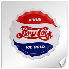 Pepsi Cola Bottle Cap Style Metal Canvas 20  X 20