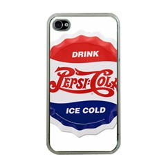 Pepsi Cola Bottle Cap Style Metal Apple Iphone 4 Case (clear)