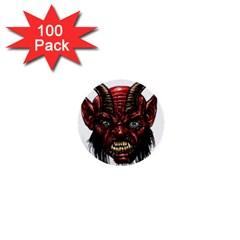 Krampus Devil Face 1  Mini Buttons (100 Pack)