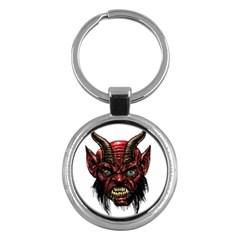 Krampus Devil Face Key Chains (round)