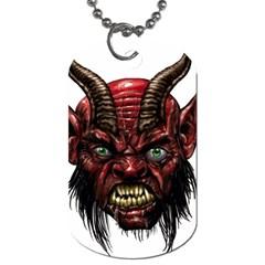 Krampus Devil Face Dog Tag (one Side)