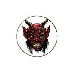 Krampus Devil Face Hat Clip Ball Marker