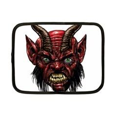 Krampus Devil Face Netbook Case (small)