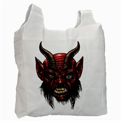 Krampus Devil Face Recycle Bag (one Side)