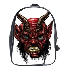 Krampus Devil Face School Bag (large)