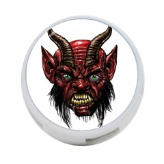 Krampus Devil Face 4 Port Usb Hub (one Side)