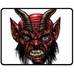 Krampus Devil Face Fleece Blanket (medium)