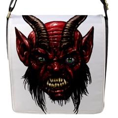 Krampus Devil Face Flap Messenger Bag (s)