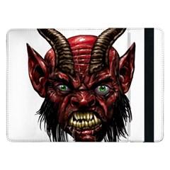 Krampus Devil Face Samsung Galaxy Tab Pro 12 2  Flip Case