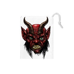 Krampus Devil Face Drawstring Pouches (small)
