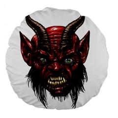 Krampus Devil Face Large 18  Premium Flano Round Cushions