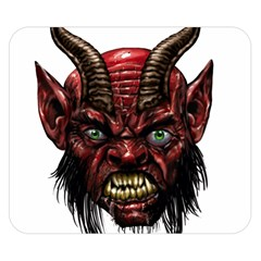 Krampus Devil Face Double Sided Flano Blanket (small)
