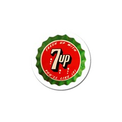Fresh Up With  7 Up Bottle Cap Tin Metal Golf Ball Marker (4 Pack)