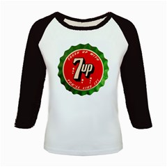 Fresh Up With  7 Up Bottle Cap Tin Metal Kids Baseball Jerseys