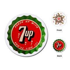 Fresh Up With  7 Up Bottle Cap Tin Metal Playing Cards (round)