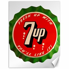 Fresh Up With  7 Up Bottle Cap Tin Metal Canvas 12  X 16