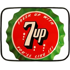 Fresh Up With  7 Up Bottle Cap Tin Metal Double Sided Fleece Blanket (mini)