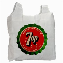 Fresh Up With  7 Up Bottle Cap Tin Metal Recycle Bag (two Side)